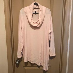Cowl neck asymmetric sweater